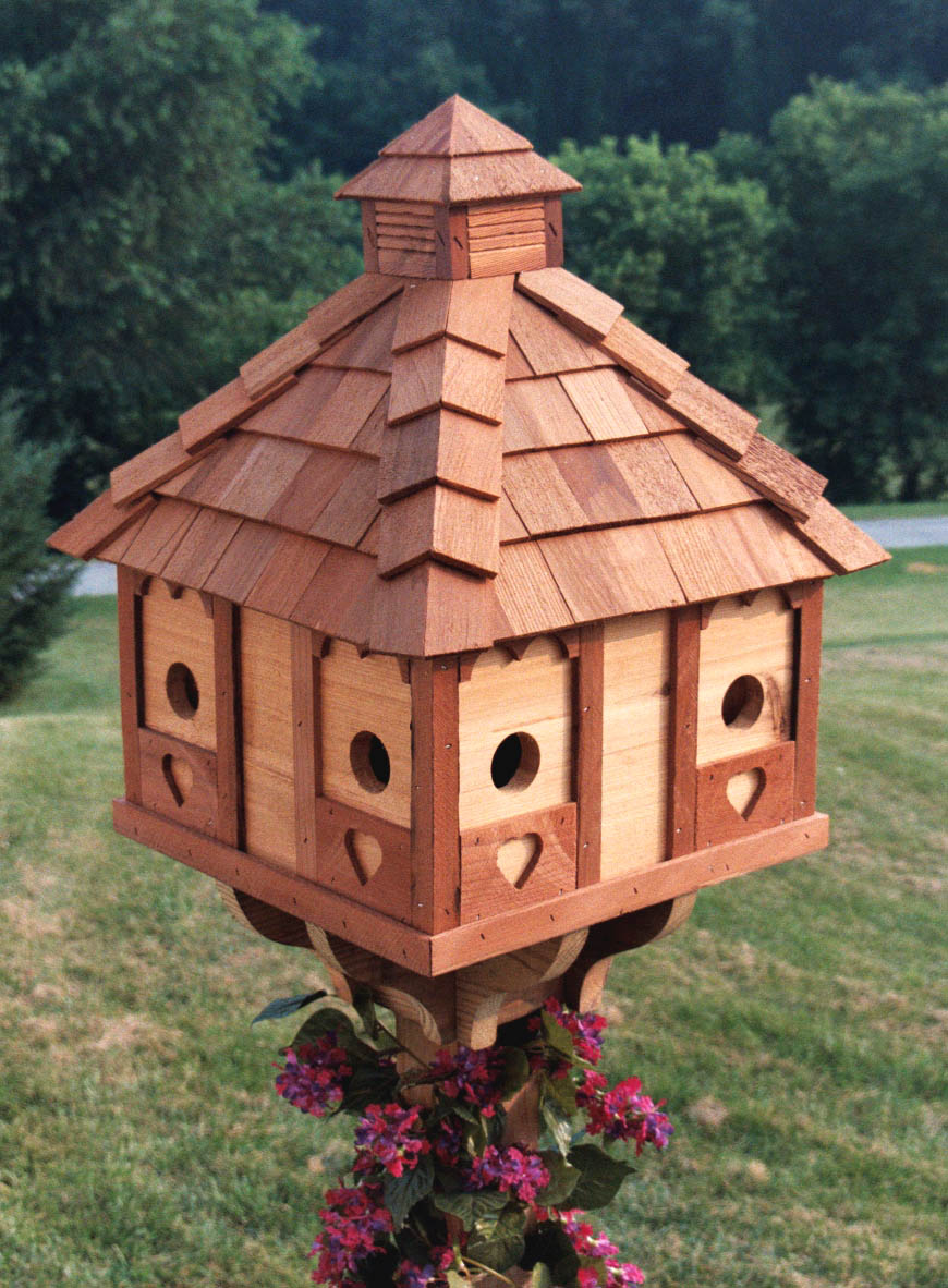 Amish delights hand crafted heirloom quality bird houses for Different types of birdhouses