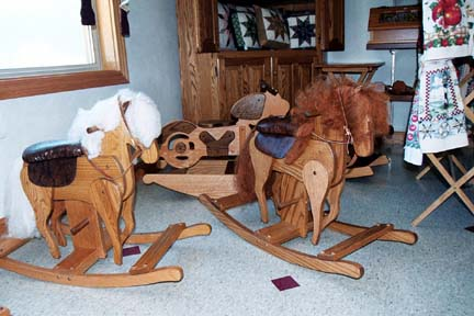 Hand crafted wooden hobby horses delight children generation after generation.